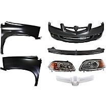 Bumper Reinforcement, Headlight, Fender, Bumper Cover, and Grille Trim Kit