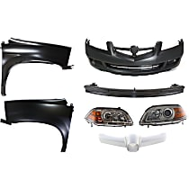 Grille Trim, Bumper Reinforcement, Headlight, Fender, and Bumper Cover Kit