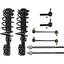 Front, Driver and Passenger Side Loaded Strut - Set of 8