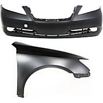 Fender - Front, Passenger Side, with Front Bumper Cover, without Parking Aid Sensor Holes