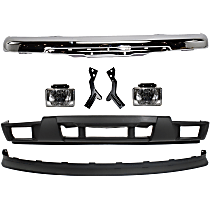 Replacement Bumper Cover, Bumper, Valance and Fog Light Kit