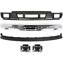 Fog Light - Driver and Passenger Side, Assembly, with Lower Bumper Cover, Chrome Impact Bar and Valance