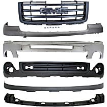 Grille Assembly - Textured Black Shell and Insert, Except Base/Denali Models, with Front Bumper, Front Bumper Cover, Front Bumper Bracket, Front Valance and Front Lower Valance