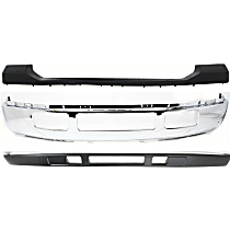 Bumper - Front, Chrome, with Bumper Cover and Lower Valance