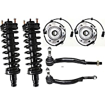 Loaded Struts, Tie Rod End and Wheel Hub Kit