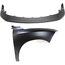 Fender - Front, Passenger Side, with Front Upper Bumper Cover, CAPA Certified