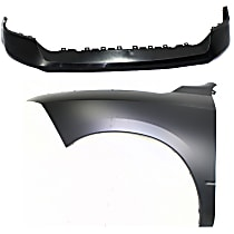 Fender - Front, Driver Side, with Front Bumper Cover Textured, CAPA Certified