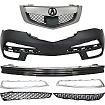 Bumper Reinforcement, Bumper Cover, Grille Assembly, and Grille Trim Kit
