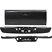 Powdercoated Black Step Bumper, Without mounting bracket(s)