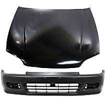 Bumper Cover - Front, Kit, Primed, For Coupe or Hatchback, Includes Hood