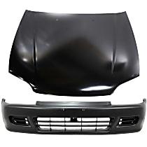 Bumper Cover - Front, Kit, Primed, For Coupe or Hatchback, Includes Hood