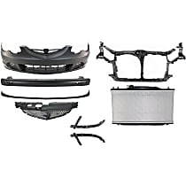 Front, Grille Assembly, Bumper Cover, Bumper Reinforcement, Bumper Bracket, Radiator Support, Radiator, and Valance Kit