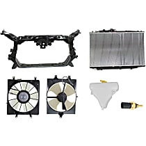 Replacement Radiator, Cooling Fan Assembly, Radiator Support, Coolant Reservoir, and Coolant Temperature Sensor Kit