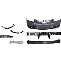 Replacement Bumper Reinforcement, Bumper Cover, Bumper Retainer, Bumper Absorber and Grille Assembly Kit