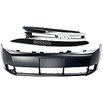 Bumper Cover - Front, Kit, Primed, For Sedan, Includes Grille, CAPA Certified