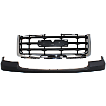 Grille Assembly - Chrome Shell with Painted Black Insert, Except Denali Model, with Front Bumper Cover (Textured)