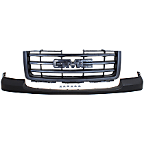 Grille Assembly - Textured Black Shell and Insert, Except Base/Denali Models, with Front Bumper Cover (Textured)