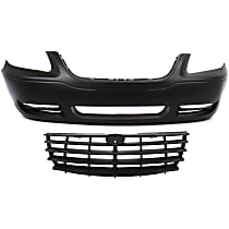 Grille Assembly - Painted Gray Shell and Insert, with Front Bumper Cover