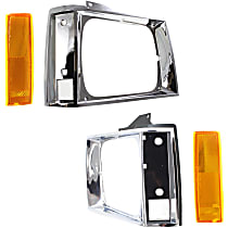Driver and Passenger Side Headlight Door, Chrome