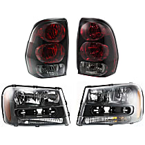 Driver and Passenger Side Tail Light, With bulb(s)