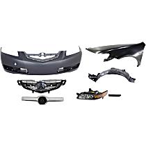 Grille Trim, Bumper Cover, Side Marker, Fender, Splash Shield, Grille Assembly and Headlight Kit