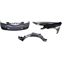 Replacement Bumper Cover, Fender and Splash Shield Kit
