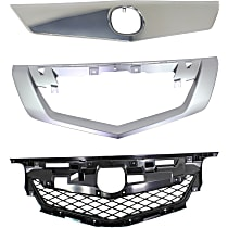 Grille Cover - Chrome, with Grille Trim and Grille Reinforcement