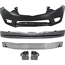 Front, Bumper Absorber, Bumper Cover, Bumper Reinforcement and Bumper Bracket
