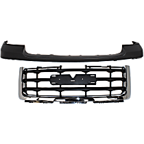 Grille Assembly - Chrome Shell with Painted Black Insert, Except Denali Model, with Front Bumper Cover (Primed)