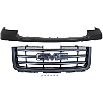 Grille Assembly - Textured Black Shell and Insert, Except Base/Denali Models, with Front Bumper Cover (Primed)