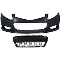 Bumper Cover - Front, Kit, Primed, For Coupe, Includes Center Bumper Grille