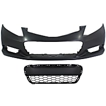 Bumper Cover - Front, Kit, Primed, For Coupe, Includes Center Bumper Grille, CAPA Certified