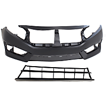 Bumper Cover - Front, Kit, Primed, Includes Bumper Grille, CAPA Certified
