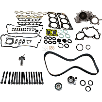 Cylinder Head Bolt, Hydraulic Timing Belt Actuator, Head Gasket Set, Water Pump and Timing Belt Kit