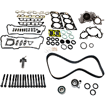 Head Gasket Set, Hydraulic Timing Belt Actuator, Water Pump, Cylinder Head Bolts and Timing Belt Kit