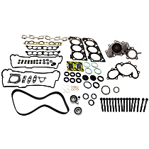 Replacement Timing Belt Kit, Head Gasket Set, Water Pump and Cylinder Head Bolt Kit