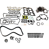 Head Gasket Set, Water Pump, Timing Belt Kit and Cylinder Head Bolt Kit