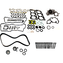 Head Gasket Set, Water Pump, Cylinder Head Bolts and Timing Belt Kit