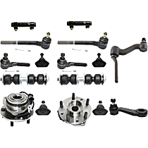 Tie Rod Adjusting Sleeve, Ball Joint, Idler Arm, Pitman Arm, Wheel Hub, Sway Bar Link and Tie Rod End Kit