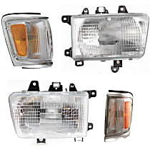 Headlights - Driver and Passenger Side, Kit, Composite, With Bulb(s), With Corner Lights