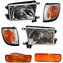 Headlights - Driver and Passenger Side, Kit, With Bulb(s), With Turn Signal and Corner Lights