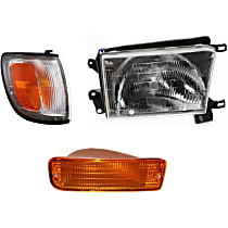 Headlight - Passenger Side, Kit, With Bulb(s), With Right Turn Signal and Corner Light
