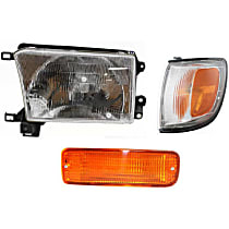 Headlight - Driver Side, Kit, With Bulb(s), With Left Turn Signal and Corner Light