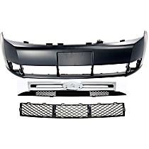 Bumper Cover - Front, Kit, Primed, For Sedan, Includes Center Bumper Grille and Grille
