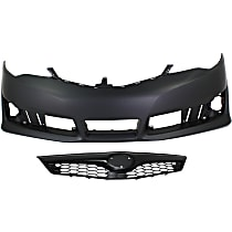 Grille Assembly - Painted Black Shell and Insert, SE Model, with Front Bumper Cover