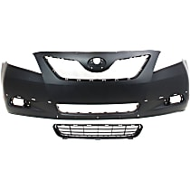 Bumper Grille Compatible with Toyota Camry 07-09 Front Black Lower Cover USA//Japan Built