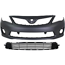 Replacement Bumper Cover and Bumper Grille Kit
