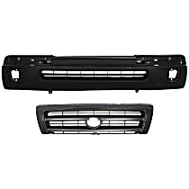 Grille Assembly - Painted Black Shell and Insert, with Front Bumper Cover