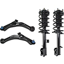 Replacement Shock Absorber and Strut Assembly and Control Arm Kit
