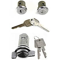 Replacement KIT1-021419-12-A Door Lock Cylinder - Chrome, Direct Fit, Kit